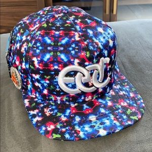 EDC Las Vegas cap with pins 🤖👽